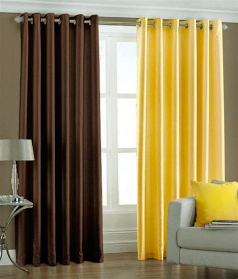 yellow brown curtains sls dreams brown and yellow polyester eyelet curtain set