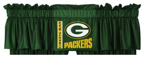 packers curtains nfl green bay packers football locker room valance