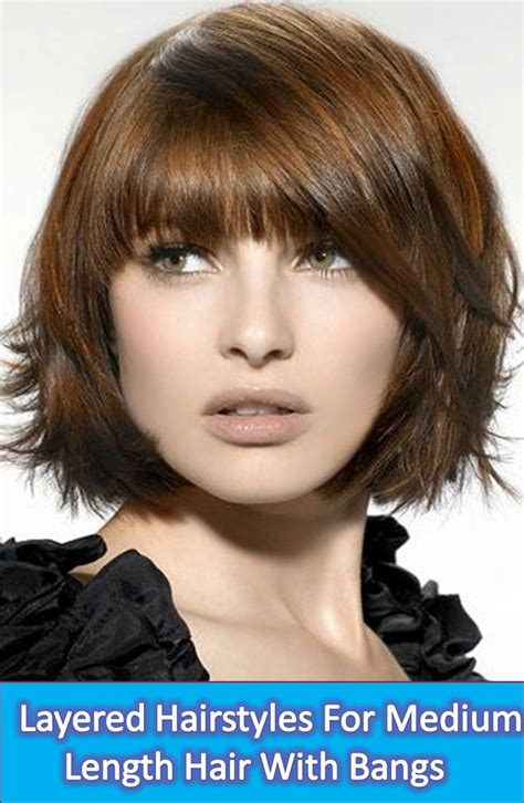 15 latest layered hairstyles for medium length hair with