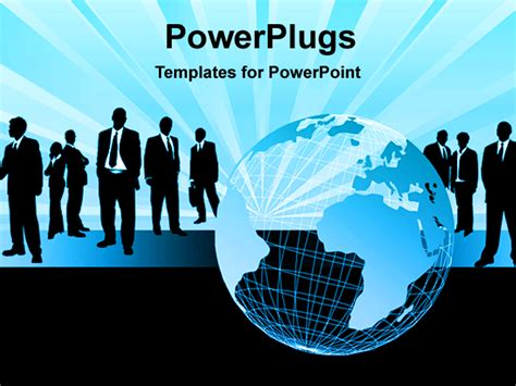 themes in background casually powerpoint template silhouetted business men standing