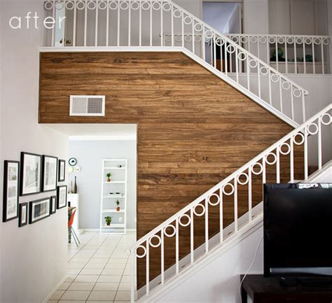 before after wood paneled accent wall design sponge before after paneled wood wall design sponge