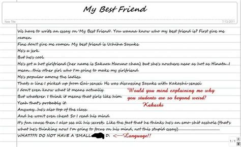 Describe Your Best Friend Essay by Essay On My Friend Mymemory