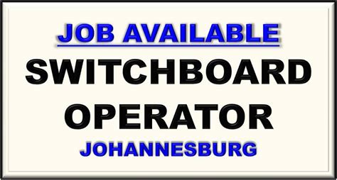 Switchboard Search Available 187 Switchboard Operator Johannesburg