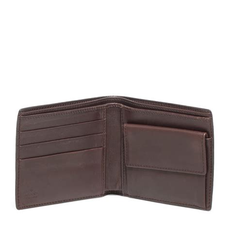 gucci leather wallet gucci brown guccissima leather bi fold wallet labelcentric