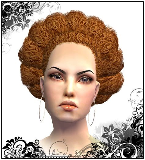 afro hairstyles sims 2 mod the sims female hair nouk 180 s afro hair without hairband