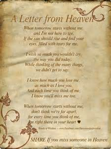 Marshall Home Comfort Daveswordsofwisdom Com A Letter From Heaven