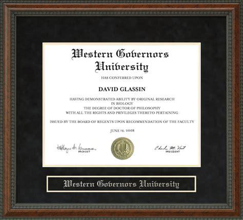 Wgu Mba Diploma by Western Governors Wgu Diploma Frame Wordyisms