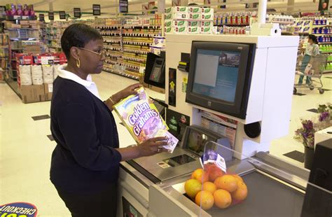 Kasir Register Check Out gonna stuff a chicken self checkout lanes might be a