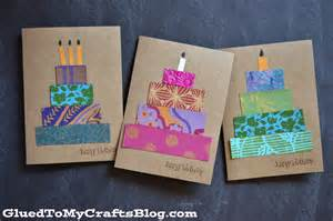 Paper Craft Greeting Cards - paper scrap birthday cards craft idea stickyu