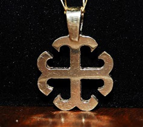 yellow gold french cross pendant large 24mm 0 9 in
