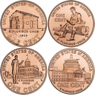 lincoln cent varieties 2009 lincoln cents 2009 lincoln bicentennial cent designs