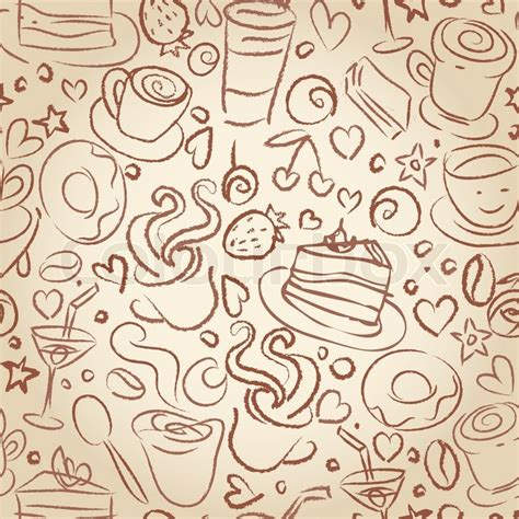 coffee shop background pattern royalty free vector image coffee time seamless background for your design stock