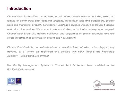 real estate company profile template choueri real estate company profile