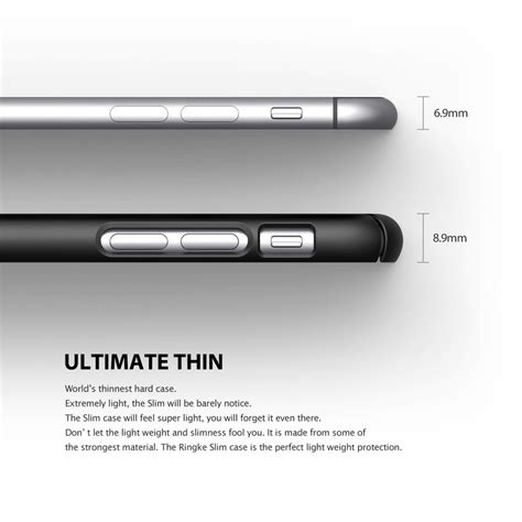 ringke slim iphone 6 4 7 etui ringke slim iphone 6 6s 4 7 gunmetal flavour design