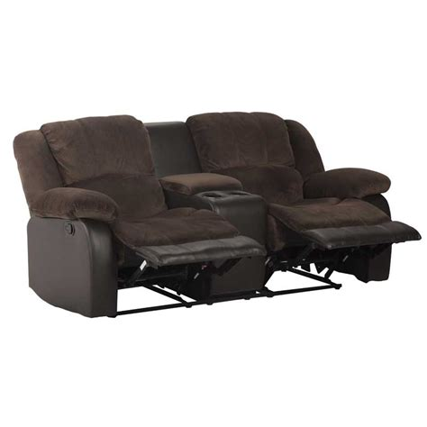 luxury recliners blake luxury fabric 2 seater recliner with console decofurn factory shop