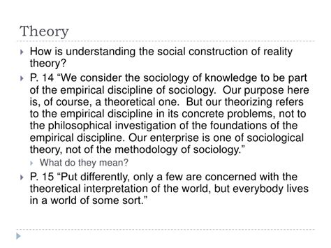 Reality Of Social Construction the social construction of reality part i