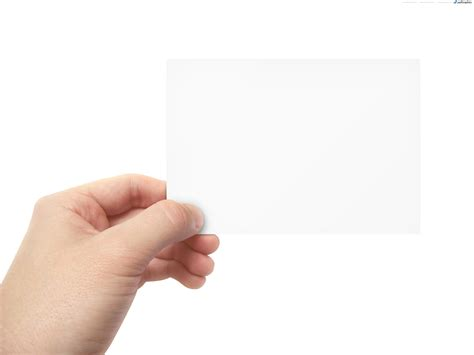 Holding Business Card Template by Blank Business Card In Psdgraphics
