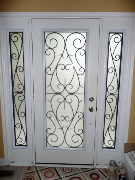 decorative door inserts decorative glass inserts for doors wrought iron
