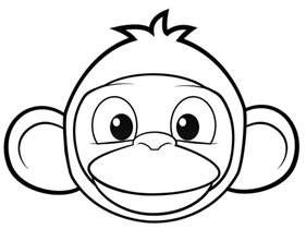 funny monkey coloring pages az coloring pages