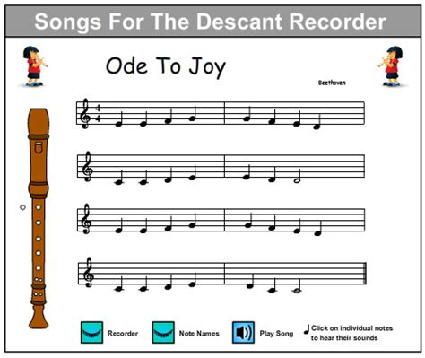 online tutorial recorder ode to joy music skills online interactive activity lessons