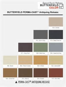 butterfield color butterfield color charts sted concrete supplies