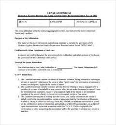 addendum template sle lease addendum form 14 free documents