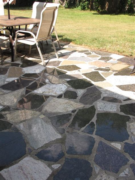 random mixed blend flagstone look granite patio set