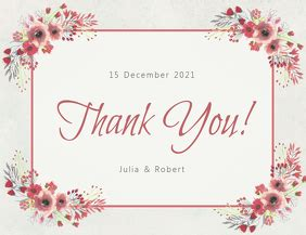 thank you card template with photo 570 customizable design templates for thank you