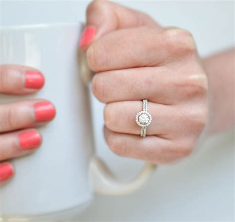 tiny petite help please on floating halo ring with big gap between centre stone and halo weddingbee