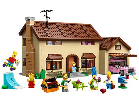 haus der simpsons das simpsons haus 71006 the simpsons lego shop