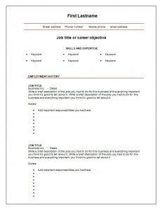 7 free blank cv resume templates for free cv