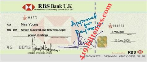 bank draft ulster bank 419 bittenus checks