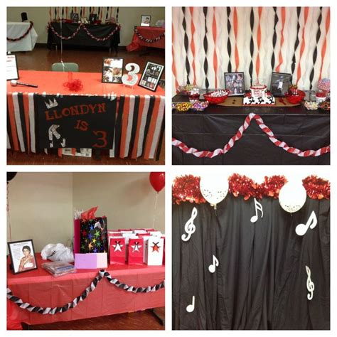 michael jackson themed birthday party quot michael jackson quot theme party kolby s birthday party