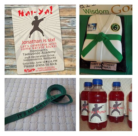 karate themed birthday party karate themed party by swankypress com birthday for the