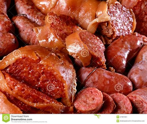 Sosis Beef Cooked Salami Sliced cooked italian salami sausages stock image image 27961851