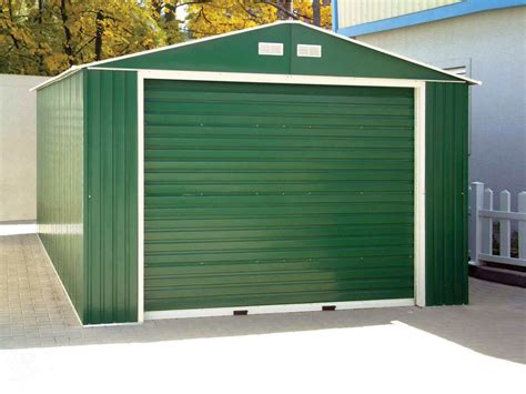 22 Simple Storage Sheds With Garage Doors Pixelmari Com Storage Shed With Garage Door