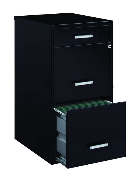 space solutions file cabinet space solutions 3 file cabinet 18 inch deep black