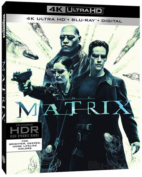 film blu ray 4k the matrix remastered for 4k blu ray and new blu ray