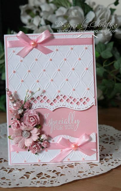 Handmade Cards Tutorials - tuesday tutorial bracket borders one flowers ribbons