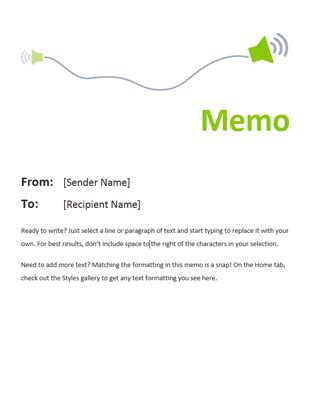 memo office templates