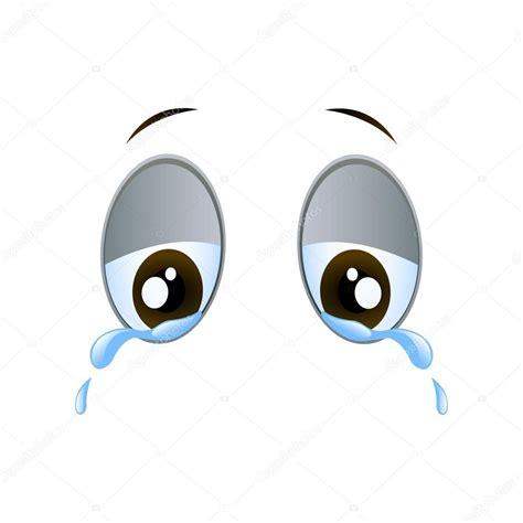 imagenes llorando comicas ojos de dibujos animados llorando tristes vector vector