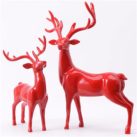 online buy wholesale resin deer figurines from china resin