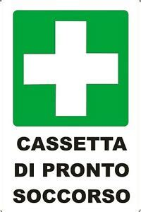simbolo cassetta pronto soccorso 2 targhette adesive quot cassetta pronto soccorso quot emergenza