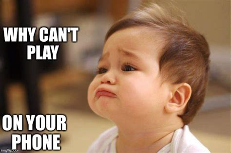 Baby On Phone Meme - cute sad baby imgflip