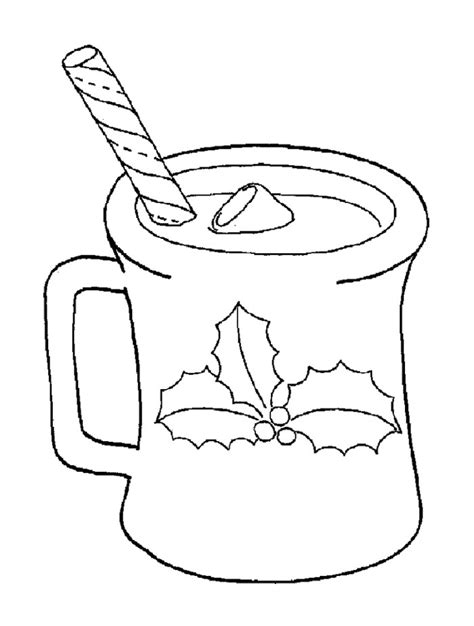 hot chocolate coloring page az coloring pages