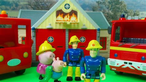 Rescue Peppa Pig new fireman sam and peppa pig episodes station rescue feuerwehrmann sam