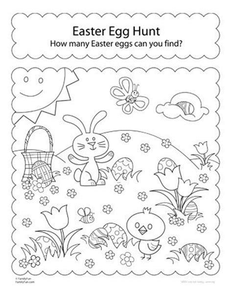 easter coloring pages games activity sheet hunt for easter eggs teaching ideas