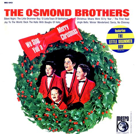 sing   merry christmas osmond brothers ms vinyl record christmas lps  cd
