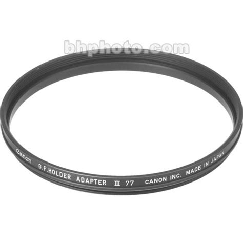 Adapter Canon 77mm canon 77mm adapter ring for gelatin filter holder iii 2711a001