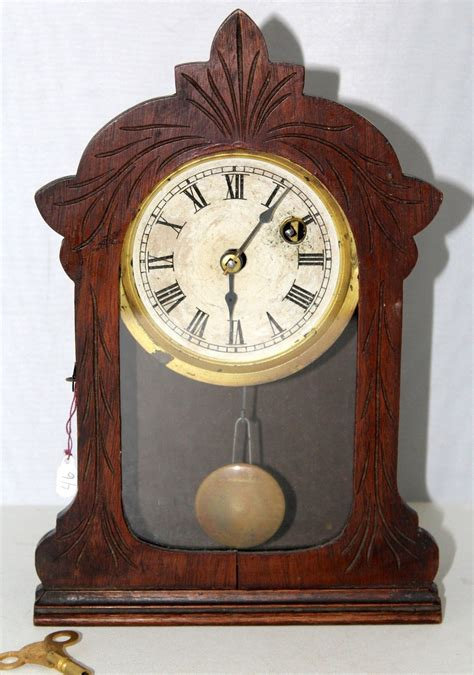 Cottage Clocks by Antique Miniature Jerome Cottage Clock C 1870 S As